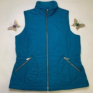 NWOT Talbots Olympic Blue Quilted Vest (S)